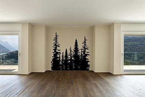 Pine Evergreen Tree Forest Vinyl Wall Decal Sticker