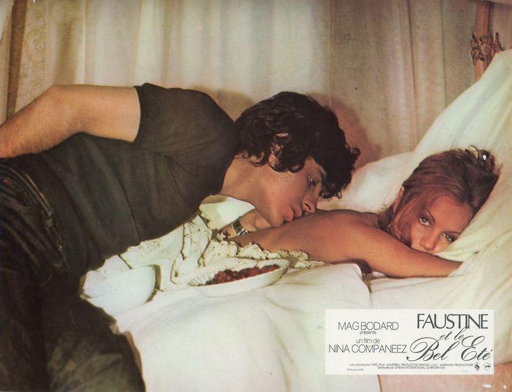 """4. Muriel Catalá e Francis Huster in """"Faustine et le bel été"""" (1972); regia: Nina Companeez (fotobusta)"""