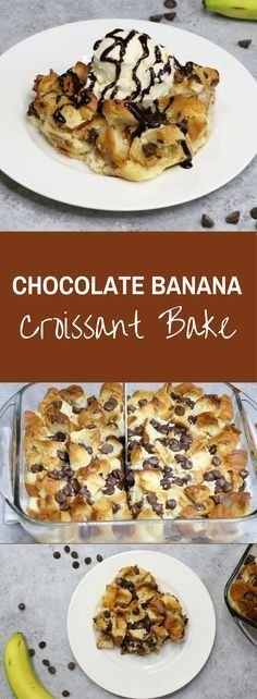 Chocolate Banana Croissant Bread Pudding is an easy recipe for you to use up your leftover croissants. It's so easy to make, and tastes so good!