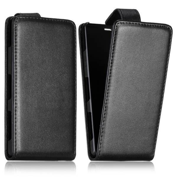 Zwart flipcase hoesje voor Sony Xperia Z1 Compact