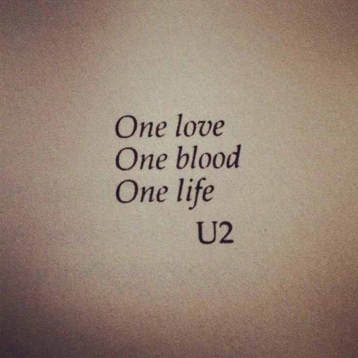 U2 ONE: when my subconscious mind which controls my past and future. And my thinking brain which controls my in the now life. Stopped arguing the war in my head ended and I became one. One by U2.