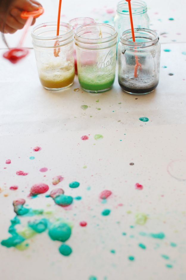 How to make watercolor bubbles.