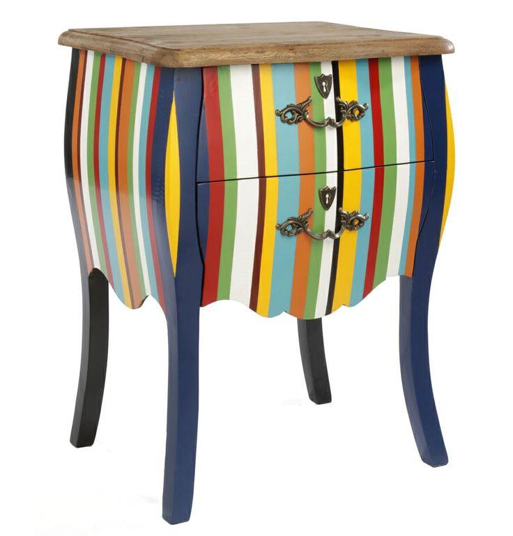 Cosmic Side Table - Stripes - Matt Blatt
