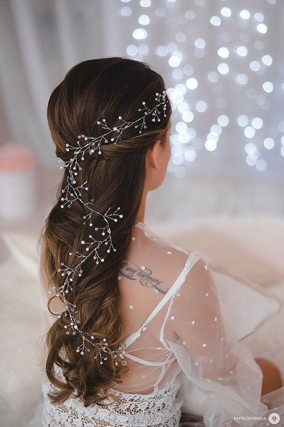 Bridal Hair Vine Long Hair Vine Wedding Headband by LikaBridal