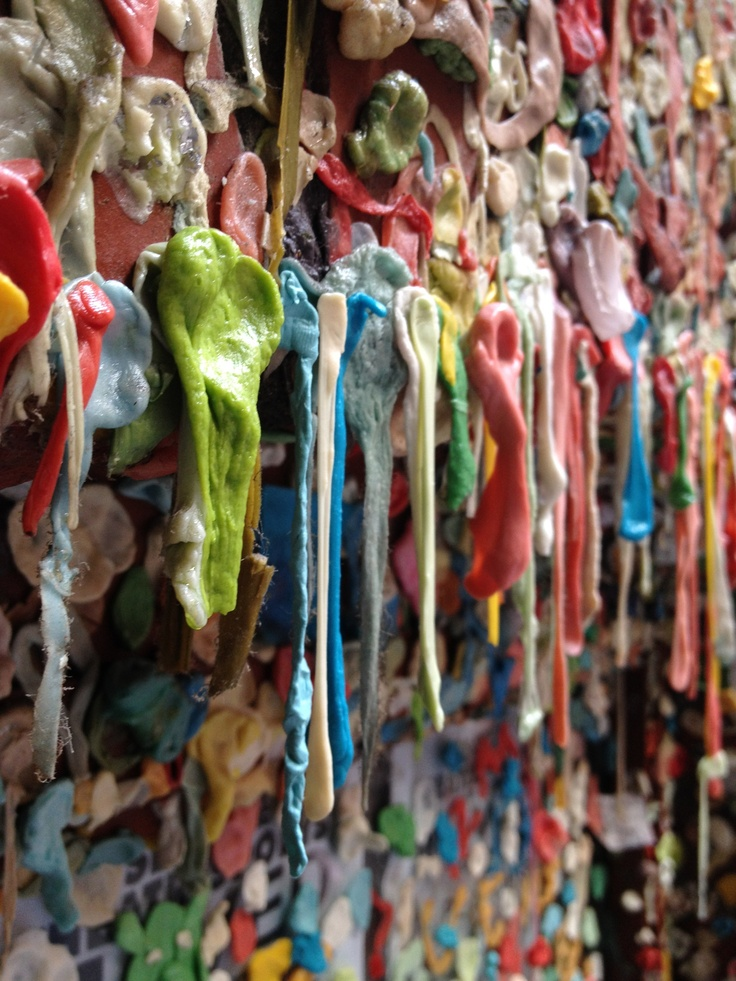 Seattle Gum Wall located in Post Alley