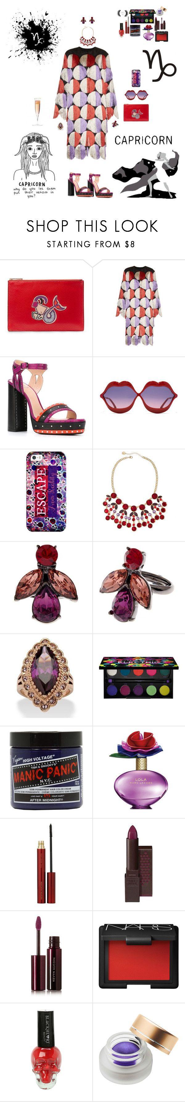 """Capricorn Castles"" by blackmagicmomma ❤ liked on Polyvore featuring Diane Von Furstenberg, Marco de Vincenzo, Lanvin, Wildfox, Casetify, Liz Claiborne, Oscar de la Renta, Palm Beach Jewelry, Urban Decay and Manic Panic NYC"
