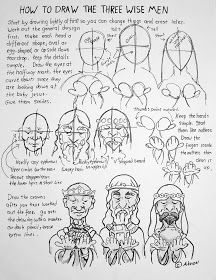 How to drew the three wise men worksheet