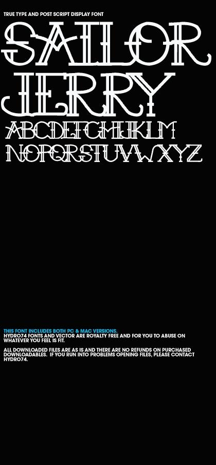 sailor jerry font