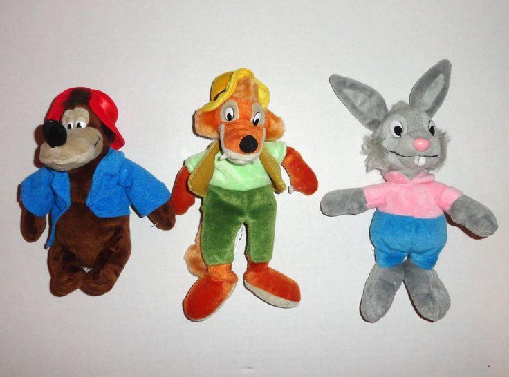 Disney Song Of The South Plush Set Brer Bear Brer Fox
