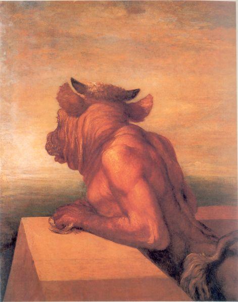 Minotauro:  era un monstruo con cuerpo de hombre y cabeza de toro.  fue concebido de la unión entre Pasífae y un magnífico toro con motivo de una afrenta divina. Fue encerrado en un laberinto diseñado por el artesano Dédalo, hecho expresamente para retenerlo, ubicado probablemente en la ciudad de Cnosos en la isla de Creta. Por muchos años, hombres y mujeres eran llevados al laberinto como sacrificio para ser el alimento de la bestia hasta que la vida de ésta terminó en manos del héroe…