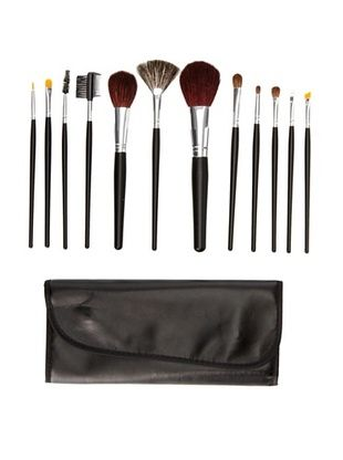 Beaute Basics 12-Piece Brush Set with Case