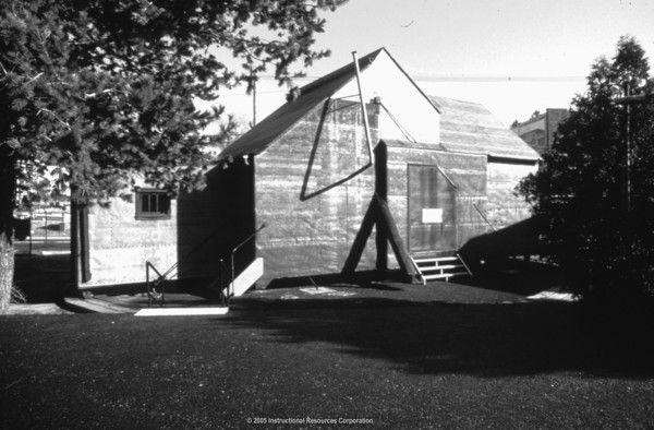 This is the Black Maria, the first motion picture studio constructed  by Thomas A. Edison, in 1893. It was placed on wheels in order to turn it so that the sunlight was in the necessary parts of the camera.