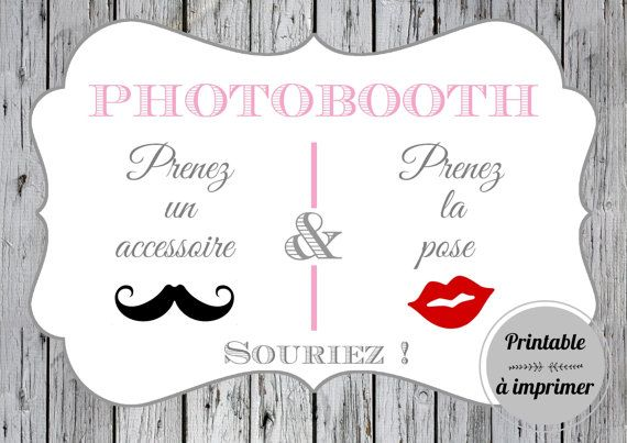 affiche photobooth imprimer etsy et affiche. Black Bedroom Furniture Sets. Home Design Ideas