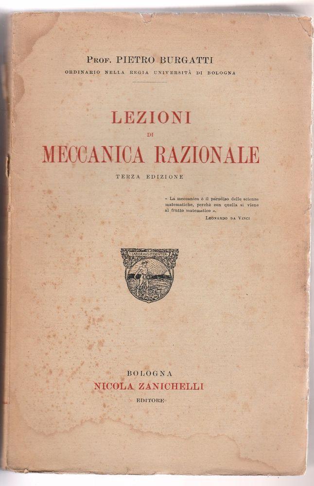 Tullio Levi Civita FONDAMENTI DI MECCANICA RELATIVISTICA ZANICHELLI 1928-L4953
