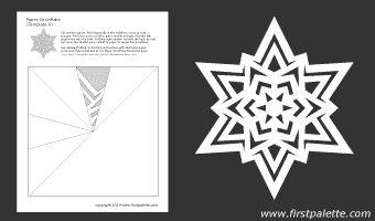 Paper snowflake template 8  - free printable