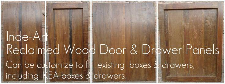 Reclaimed wood custom  kitchen cabinet doors.