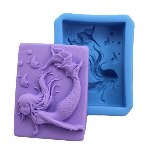 Beautiful Mermaid Silicone Soap Mold Craft Diy Handmade Soap Ice Cube Mould