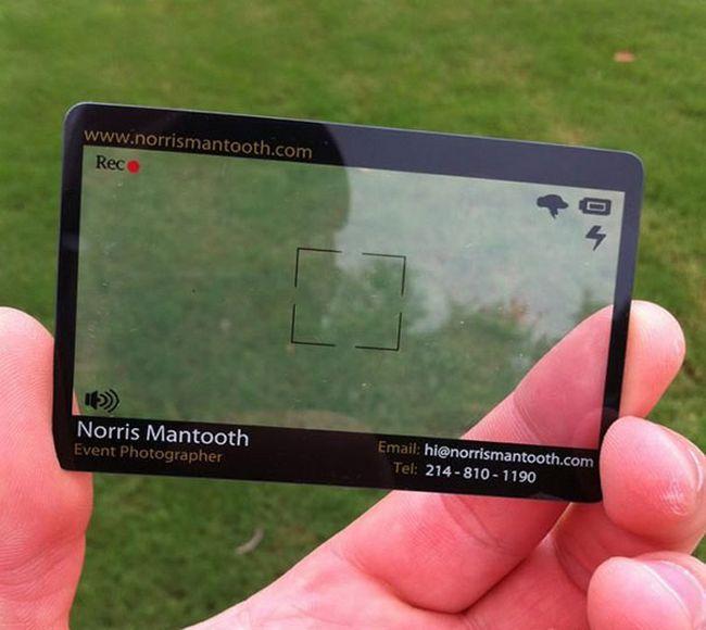 Cartão de visita para fotógrafo