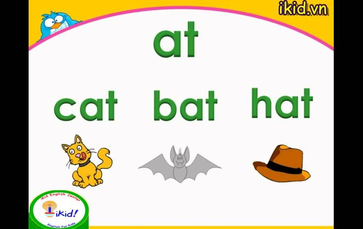 'at' Word family - iKid Phonics