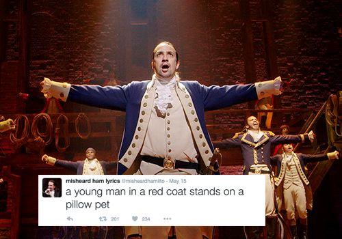 Misheard Hamilton lyrics.
