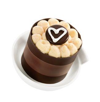 Čokoládový dortík se srdíčkovým zdobením