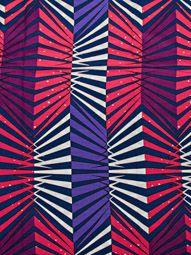 Super deluxe wax ciré d'impression motif ligne à trois dimensions coloré sw091907