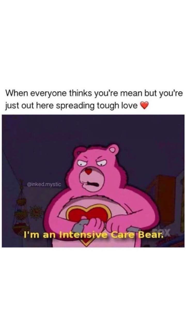 Pin By Nova On Mood Care Bear Tough Love Fictional Characters