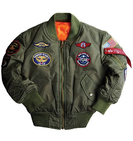Boys MA-1 Jacket with Patches