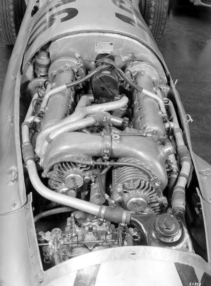 V12 engine from the Mercedes W154.