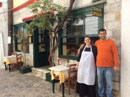To Gitoniko Taverna Hydra Island Greece, also know as Christina & Manolis Taverna in Hydra,, Hydra tavernas, tavernas in Hydra