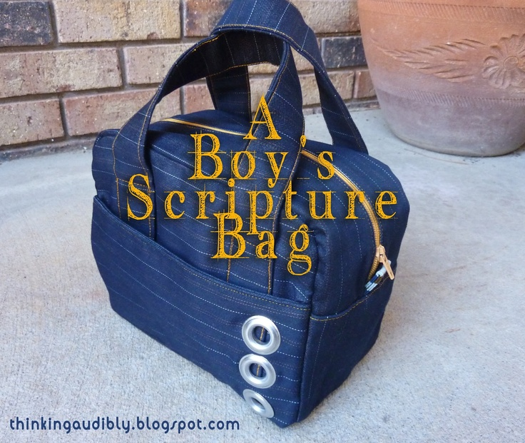 Thinking Audibly: A Boy's scripture bag