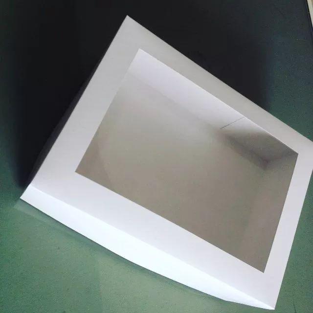 cajas para pastel con ventana de acetato  25x25x15 12 pza