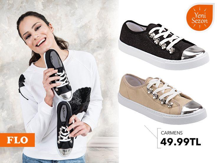 Sportif stilinizde parlak detaylar, gününüze şıklık katacak! #SS16 #newseason #summer #spring #ilkbahar #yaz #yenisezon #fashion #fashionable #style #stylish #flo #floayakkabi #shoe #ayakkabı #shop #shopping #women #womenfashion  #trend #moda #ayakkabıaşkı #shoeoftheday
