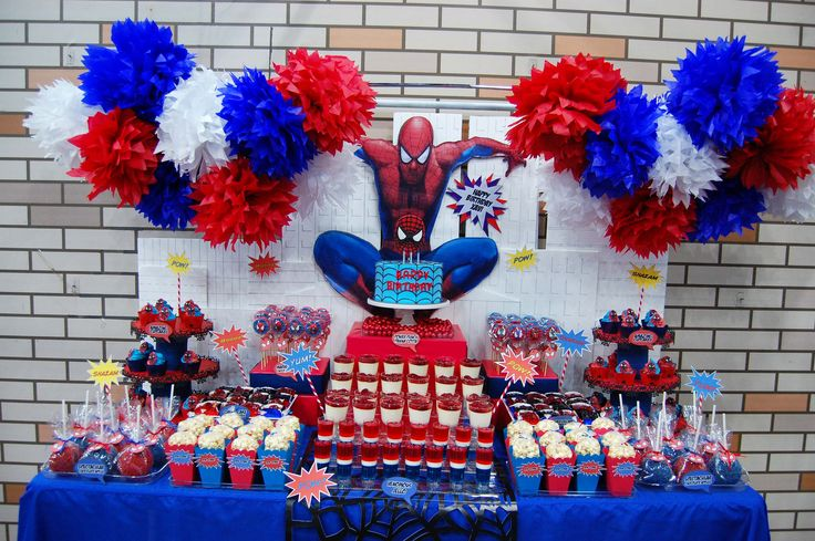 Xavi's The Amazing Spiderman Dessert table! | Flickr – Compartilhamento de fotos!
