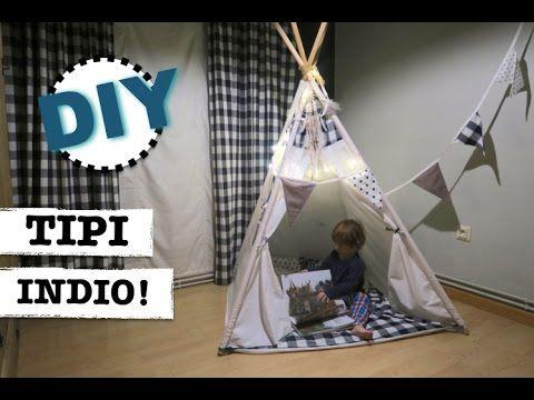 Cómo hacer un tipi | teepee | cabaña india o tienda para niños o mascotas | Manualidades