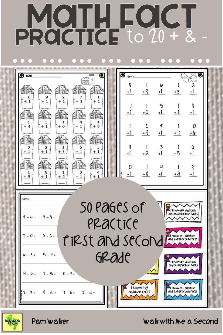 Math Fact Practice To 20 Addition And Subtraction Distance Learning Math Fact Practice Math Facts Addition And Subtraction Practice Addition and subtraction facts to 20