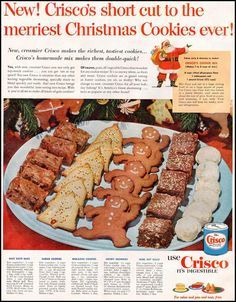 I've mentioned before the virtues and history of Crisco with a recipe for Retro Crisco Chocolate Chip Cookies . This unique product had a re...