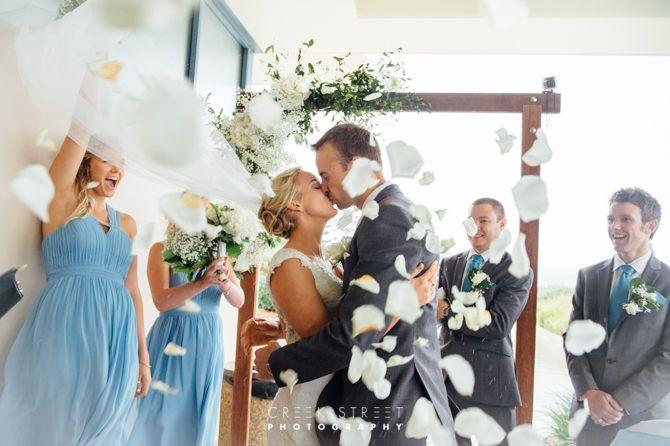 Wedding Ceremony Mona Vale Golf Club - the kiss #kiss #brideandgroom #confetti #ceremony