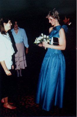 November 29, 1983: Princess Diana at the Red Dragon Ball at London's Grosvenor House Hotel.