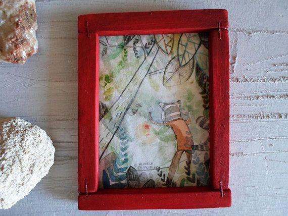 Piccola illustrazione originale con cornice in di angelaperrini, €50.00