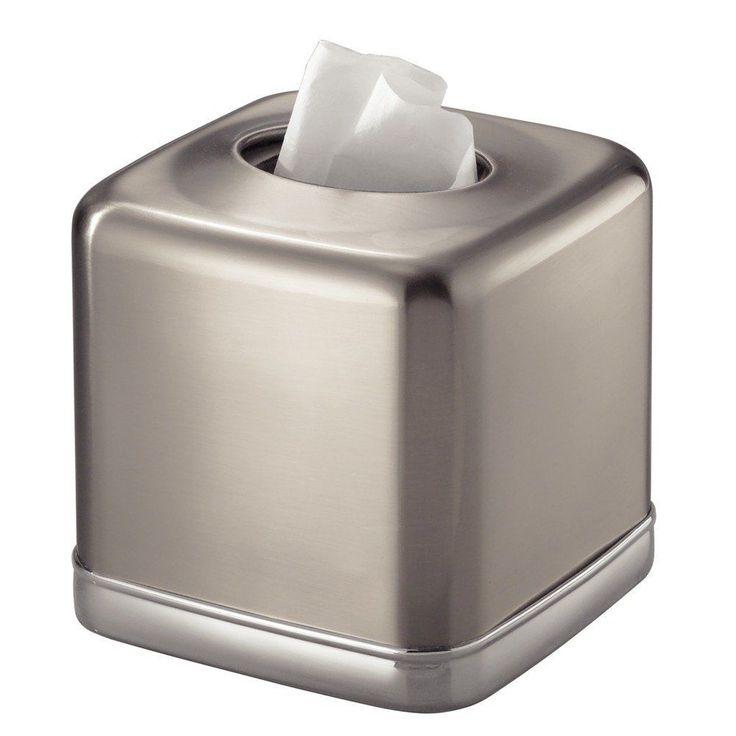 Facial Tissue Box Cover Square Home Decor Kleenex Tissue Holder Vanity Countetop #TissueBoxCover
