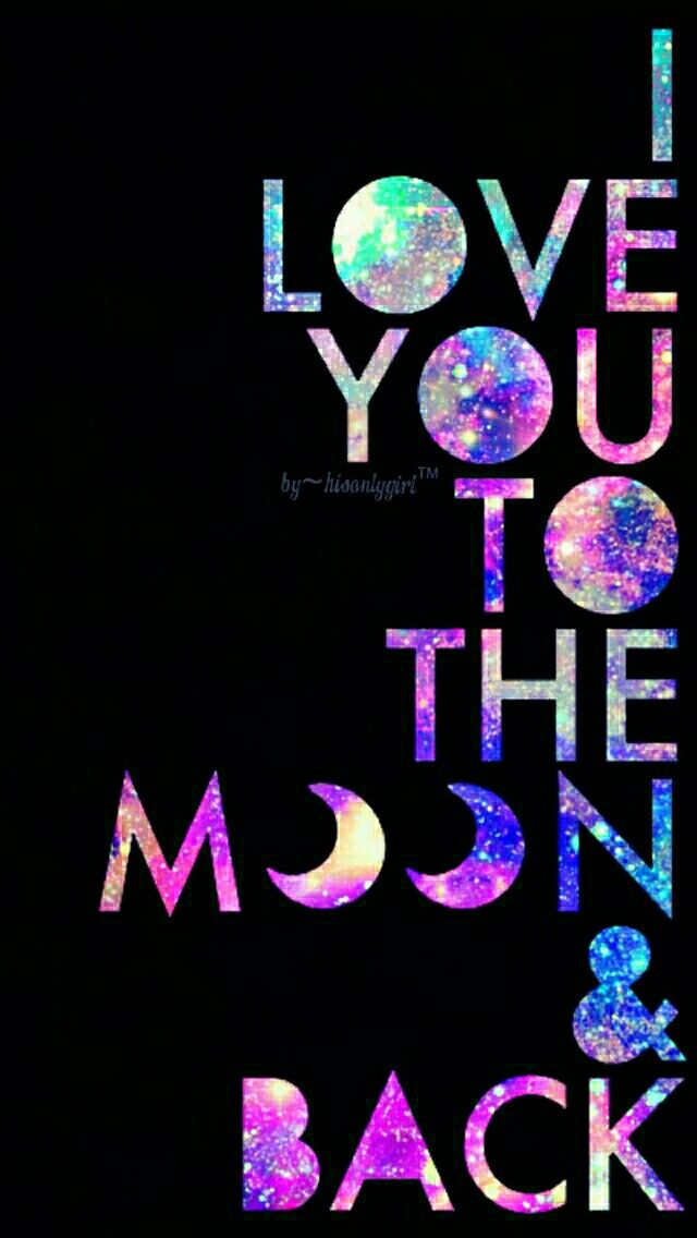 Love you galaxy wallpaper I made for the app CocoPPa.