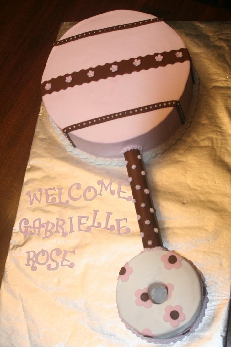 Baby rattle cake