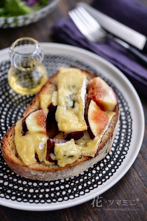 無花果とブルーチーズのハニートースト - fig,Bluecheese and honey Toast.