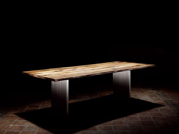 Tavolo rettangolare da pranzo BAUMKANTE by Scholtissek