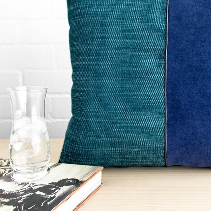 The name of this design, Undergrowth, comes from the shadowy forest floor that lines the walking tracks through the Blue Mountains. Far below the canopy it's lush and mysterious, just like the dark green and midnight blue of this cushion.