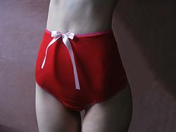 the Red - four way stretch power mesh high-waist knickers. www.lespetitesbunnies.com