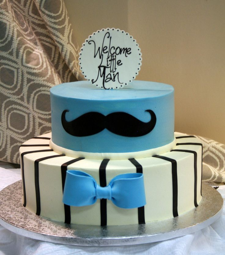 Little man baby shower. Bow tie and mustache cake. Dessert Works bakery. Westwood, MA.