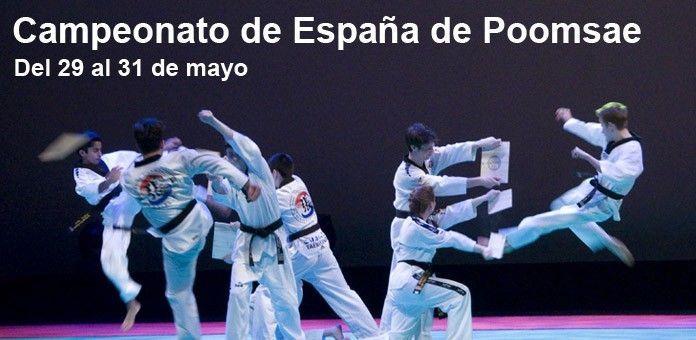 CAMPEONATO DE ESPAÑA DE POOMSAE 29 al 31 de mayo   La Federación Española de Taekwondo vuelve a confiar en Marina d'Or para acoger uno de los campeonatos de España que organiza. En este caso, se trata de la disciplina de Poomsae, también conocida como técnica, donde España es una auténtica potencia y cuenta con campeones del mundo. El lugar elegido será el Palacio d'Or.