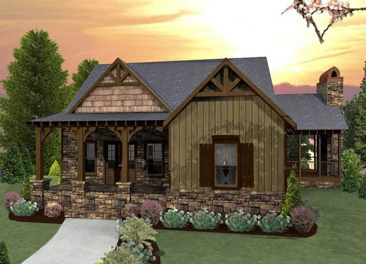 Tiny romantic cottage house plan cute tiny house plan for Cabin style house plans